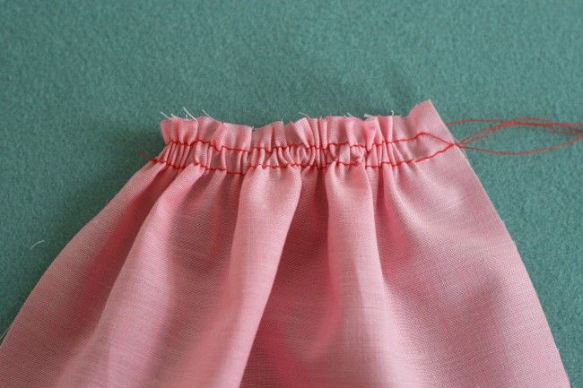 gathering stitches - Colette sewing tip