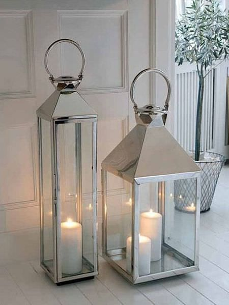 Gorgeous Big Stainless Steel Lanterns Floor Lanterns Lanterns Decor Home Lanterns