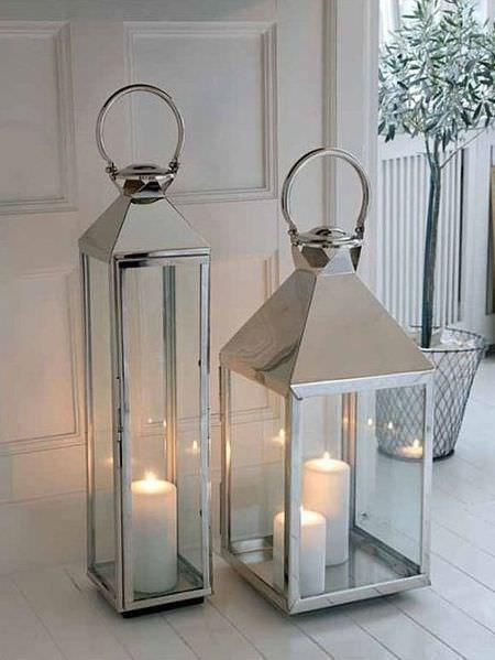 Big Stainless Steel Lanterns Floor Lanterns Lanterns Decor