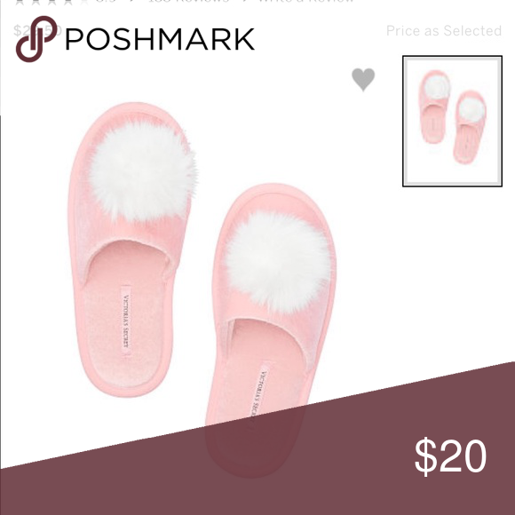 45edf83b22 Victoria s Secret pink Pom Pom slippers NWT Victoria s Secret Pom Pom  slippers!! Colors I have available  Black