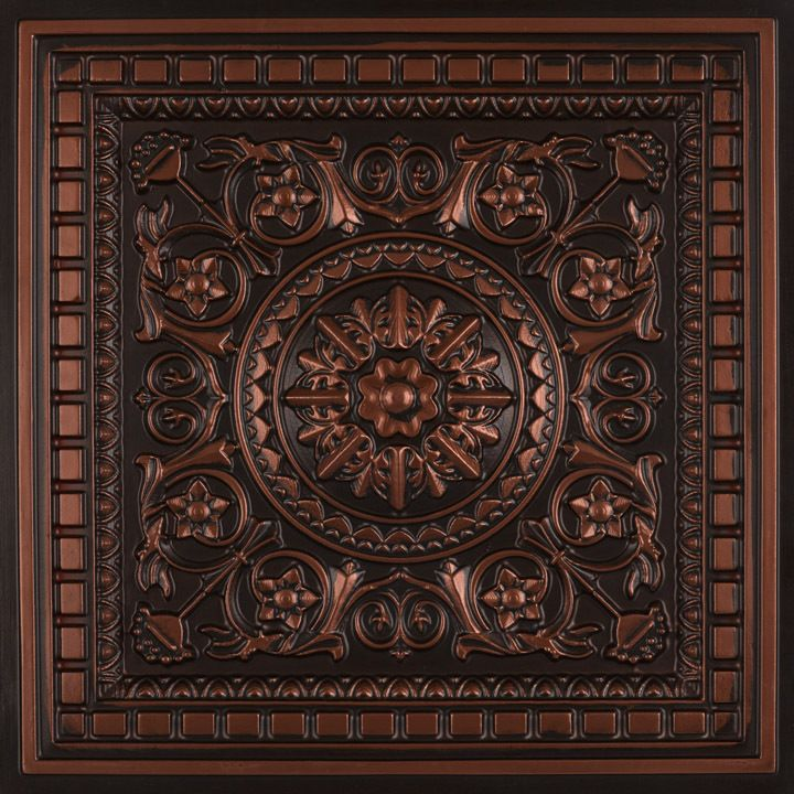 "Da Vinci Faux Tin Ceiling Tile Drop in 24""x24"