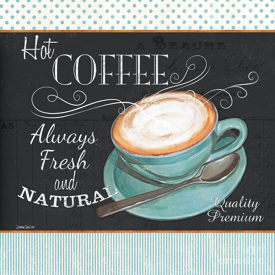 Coffee Painting - Retro Coffee 1 by Debbie DeWitt
