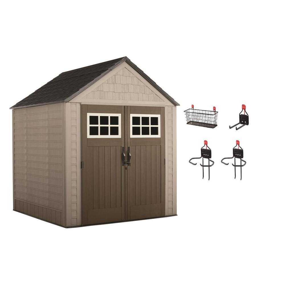 Rubbermaid Big Max 7 Ft X 7 Ft Storage Shed With Accessory Kit