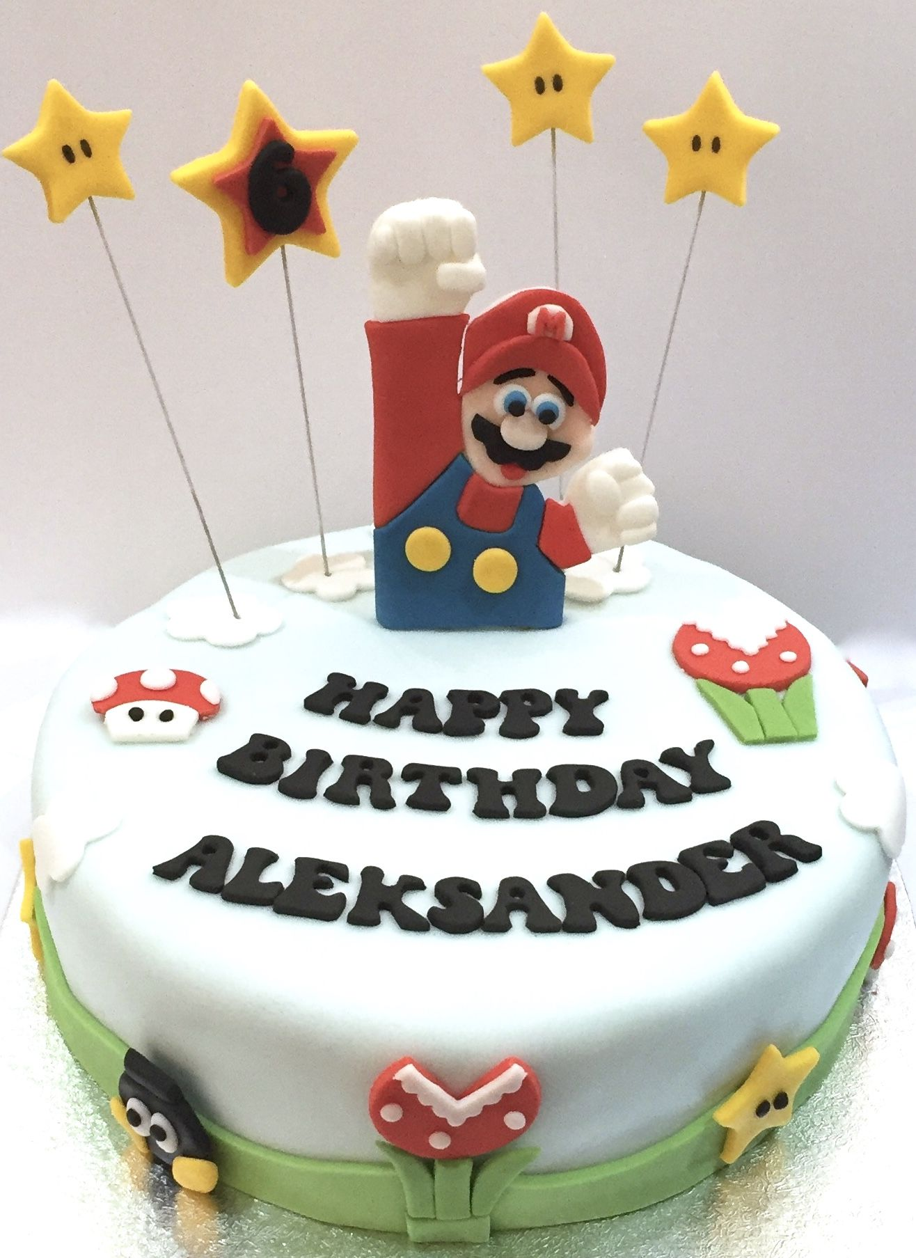Super Mario Themed Birthday Cake Delivered To A Customer In Leek Available Buy On Acupcfulofcakecouk Customised Requests Welcomed