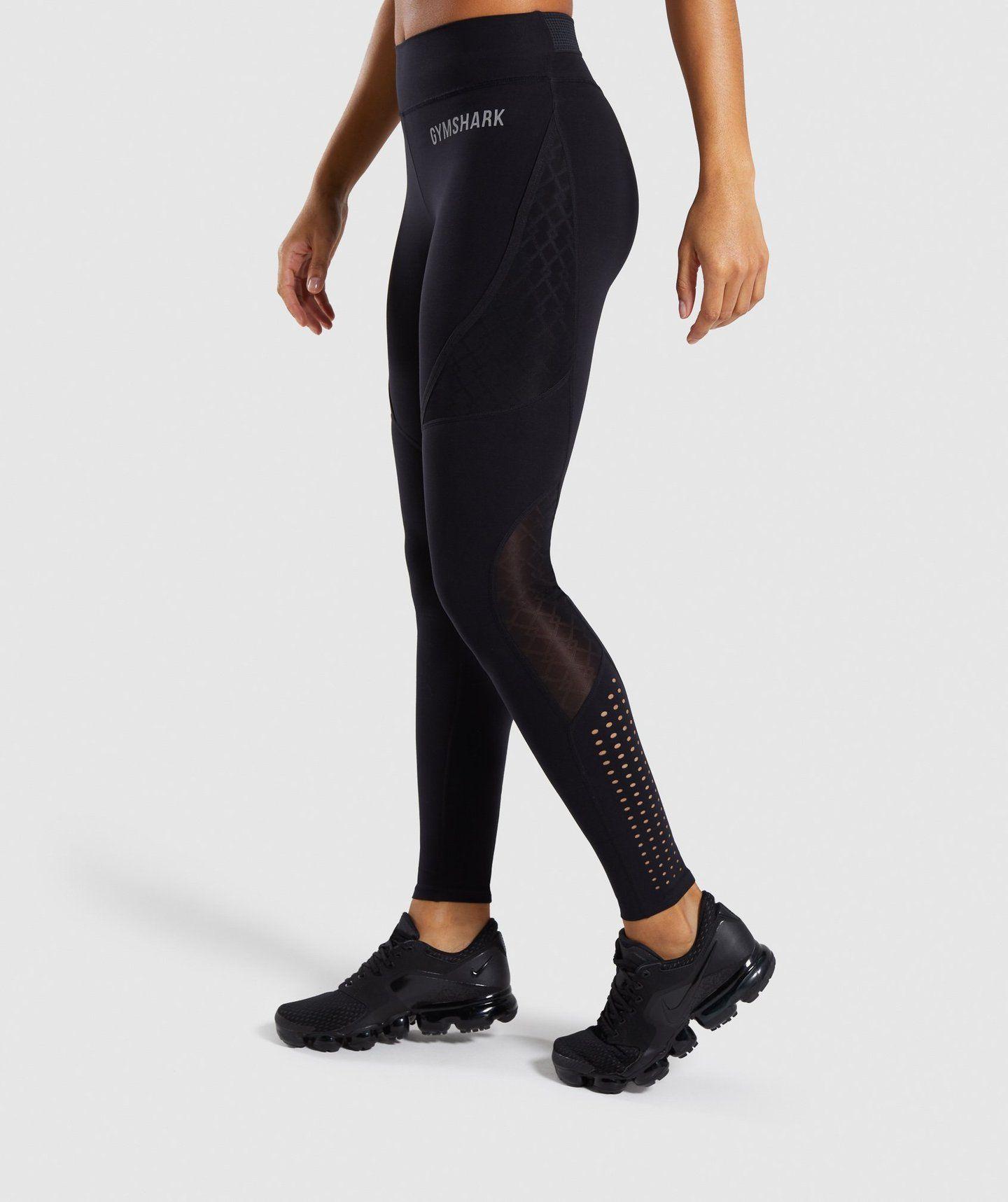 196b3ca3e9909 Gymshark Geo Mesh Leggings - Black   Bottoms & Leggings   Gymshark Gymshark  Geo Mesh Leggings