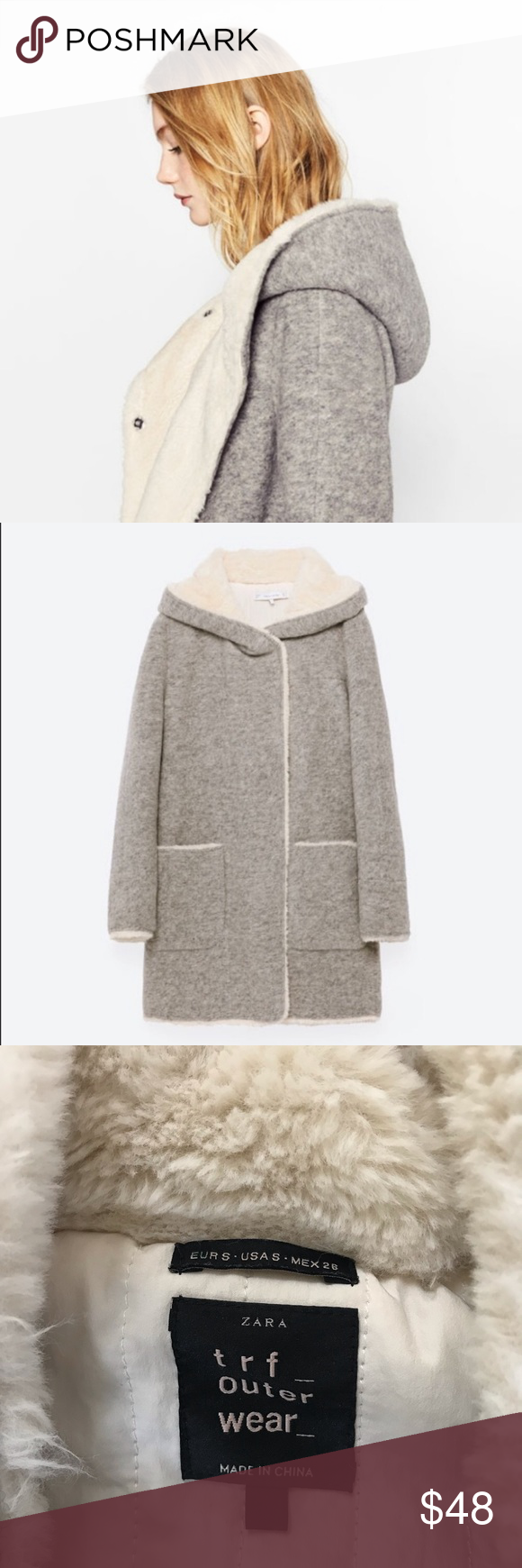 Zara Outerwear Wool Blend Coat Zara Outerwear Wool Blend [ 1740 x 580 Pixel ]