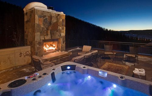 Outdoor Hot Tub Under The Stars Colorado Vacation Rentals Steamboat Springs Chalet