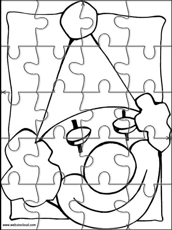 printable jigsaw puzzles to cut out for kids circus 1 coloring pages