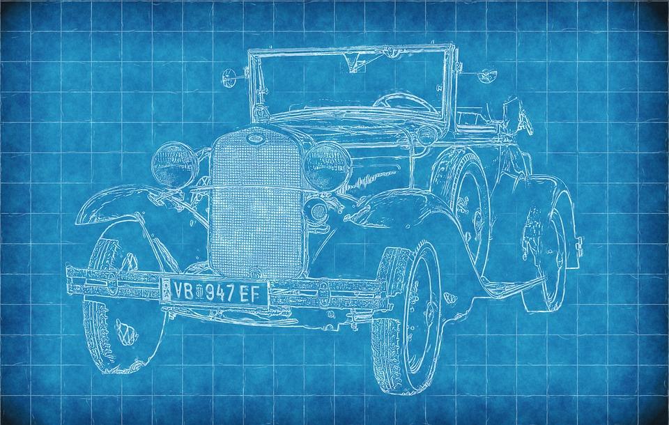 Free Image on Pixabay Car, Old Car, Blueprint, Paper