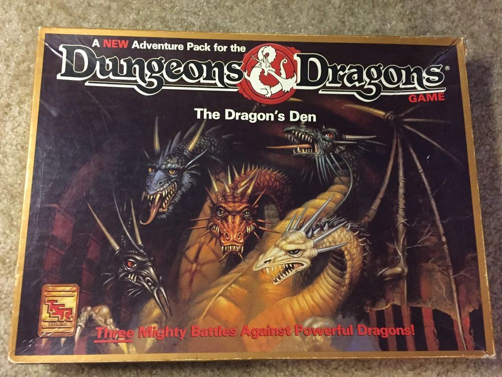 Tsr Dungeons And Dragons The Dragon S Den Board Game Adventure Pack Tsr Dungeons And Dragons Game Dragon Games Dungeons And Dragons