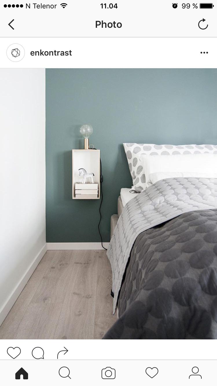 Jotun Balanse - blande den litt lysere for å kunne ha på alle veggene soverommet