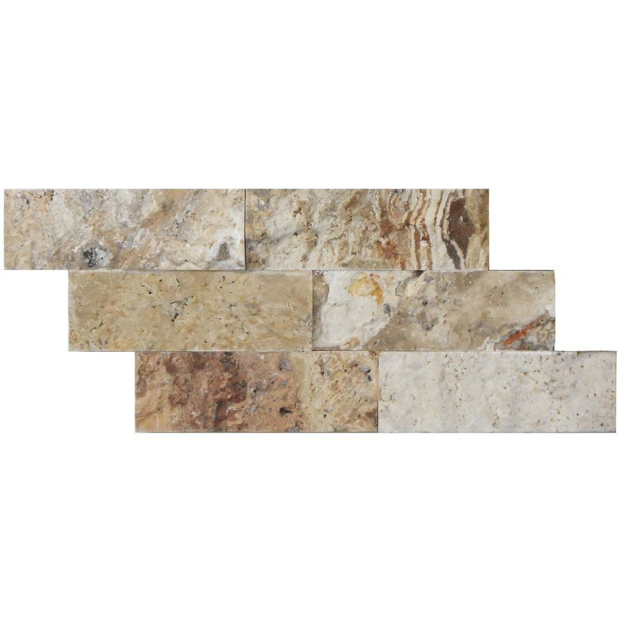 Avenzo 10-Pack 12-in x 6-in Picasso Travertine Splitface Wall Tile ...