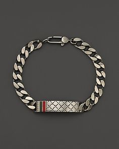 Gucci Men's Bracelet with Diamantissima Motif   Bloomingdale's