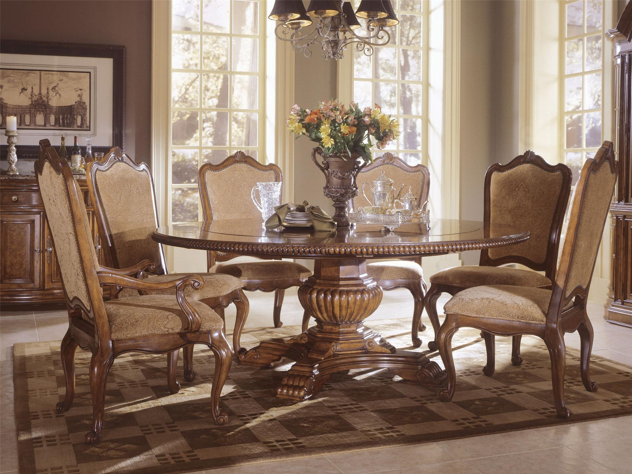 Universal Furniture Villa Cortina Round Table Features Four