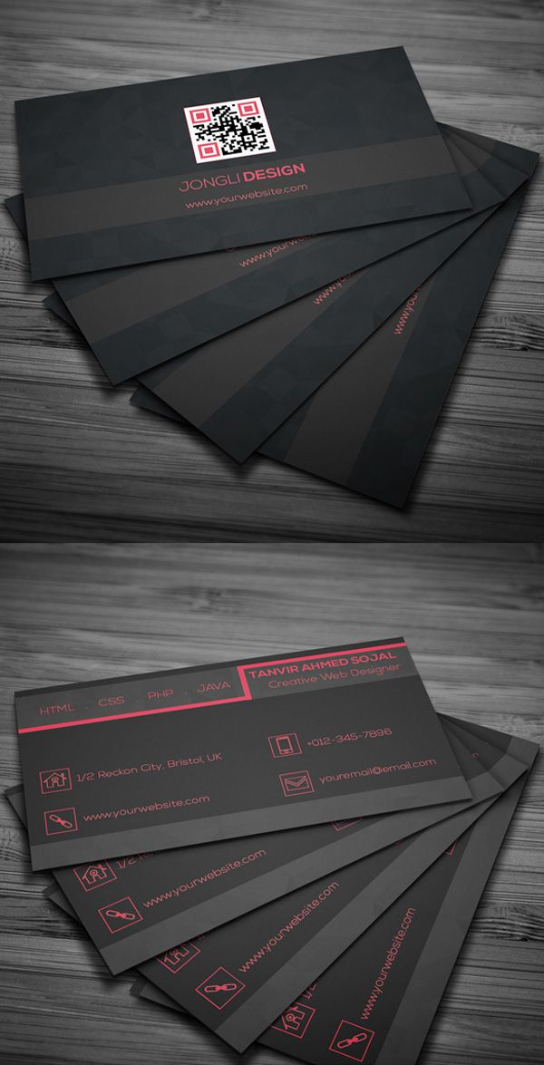 Free dark business card psd template tarj personales pinterest free dark business card psd template reheart Gallery