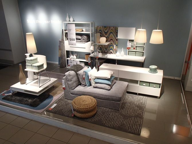 Ikea A Combination Of Raised Display Areas And On Shelf