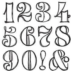Number Font More