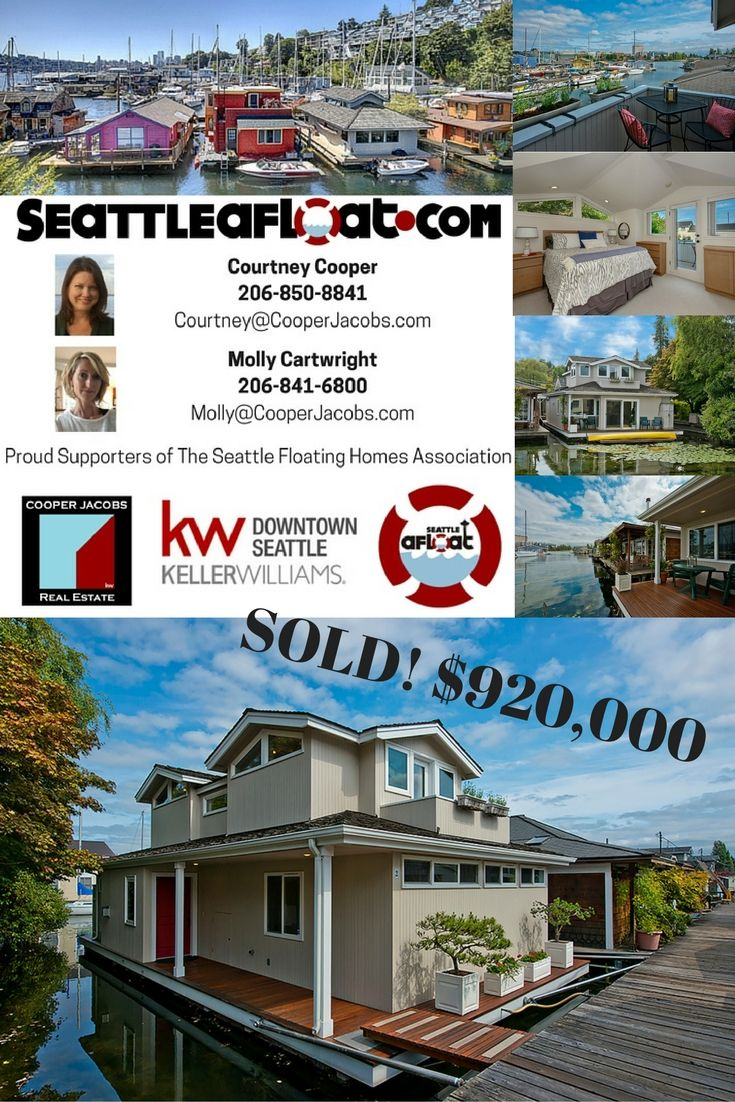 Seattle Floating Homes Just Sold In Portage Bay 1213 E Shelby St