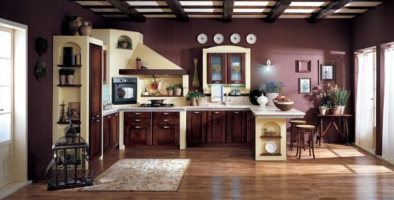 arredo villetta in camopagna cucine in muratura - Cerca con Google ...