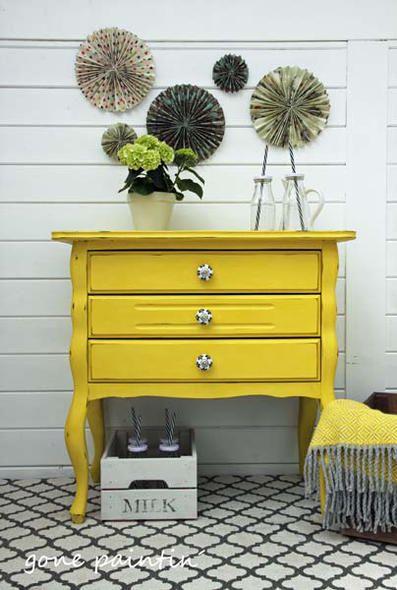 Ein Möbelupcycling Mit Annie Sloan Kreidefarbe In English Yellow. Vorher/ Nachher Bilder Und Genaue Anleitung Im Blog!