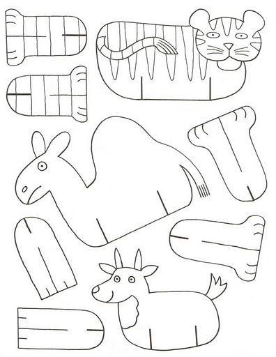 Animais Para Imprimir E Montar Sunday School Crafts Paper Animals Bible Crafts