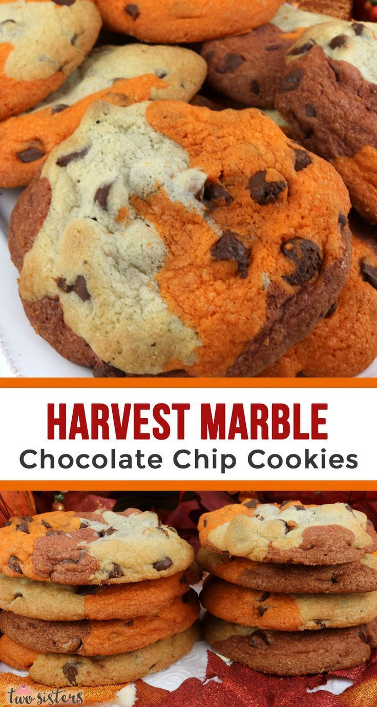 Harvest Marble Chocolate Chip Cookies