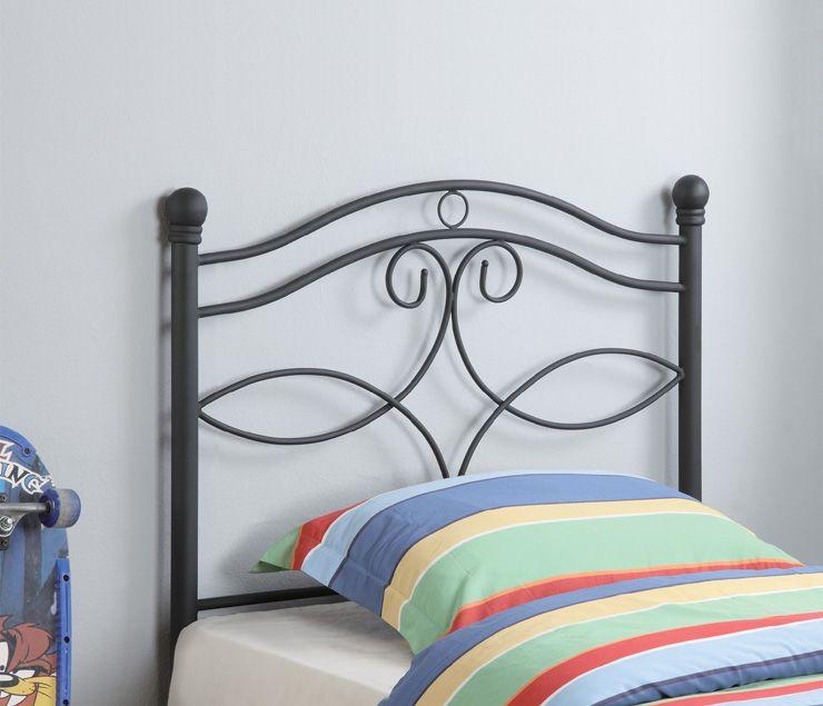 Black Ornament Pattern Twin Headboard Coaster 450102t Kids Bed