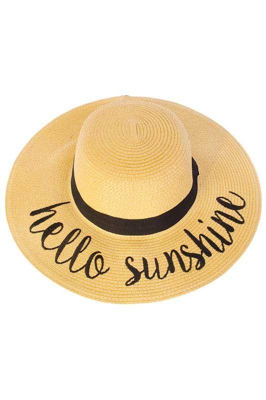 CC Exclusives Hello Sunshine Straw Floppy Hat for Women  ST-2017-HELLOSUNSHINE 9f77654d523