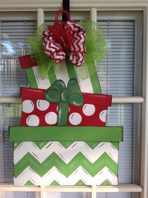 Christmas door hanger, front door decor, Christmas decorations