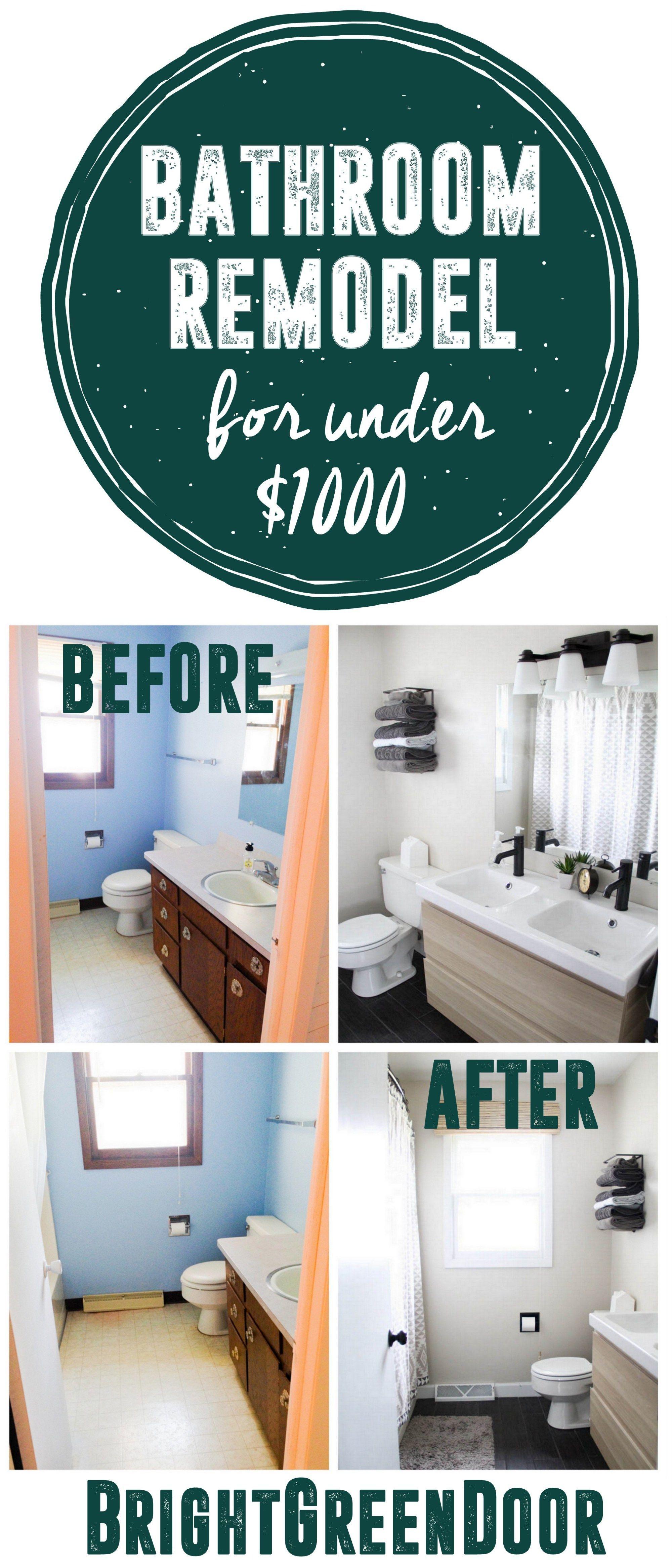 Affordable Modern Bathroom Reveal images