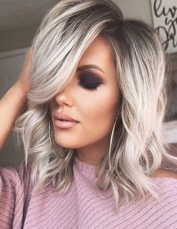 Great blonde medium length hair | Hair styles, Medium ...