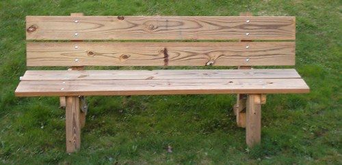 simple bench 2 of these with cushions use on porch or in yard