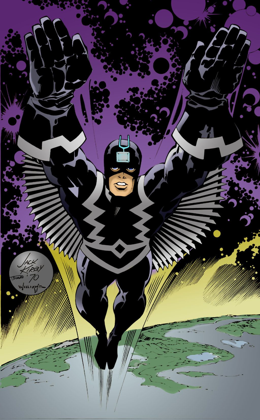 Beautiful reworking of Kirby\'s Black Bolt. Inks by Scott Williams ...