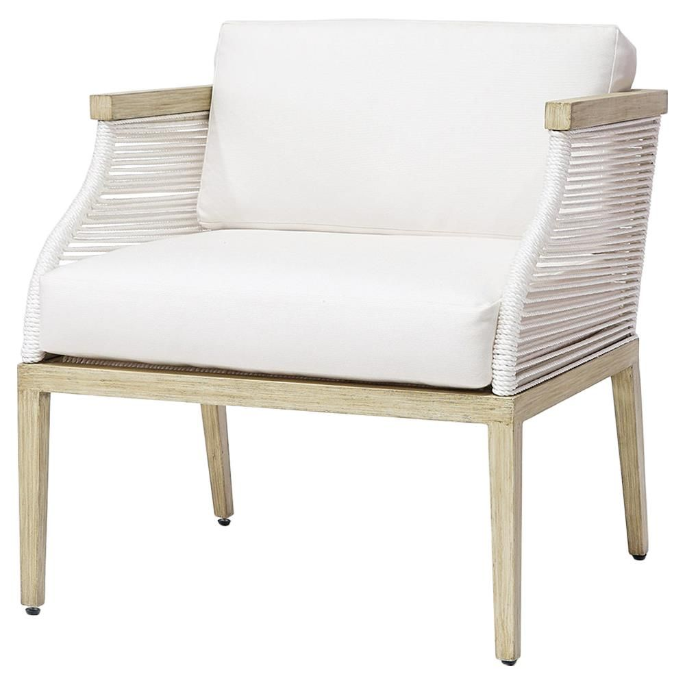 White Outdoor Lounge Chair Palecek Sausalito Modern Marine Rope White Outdoor Lounge Chair