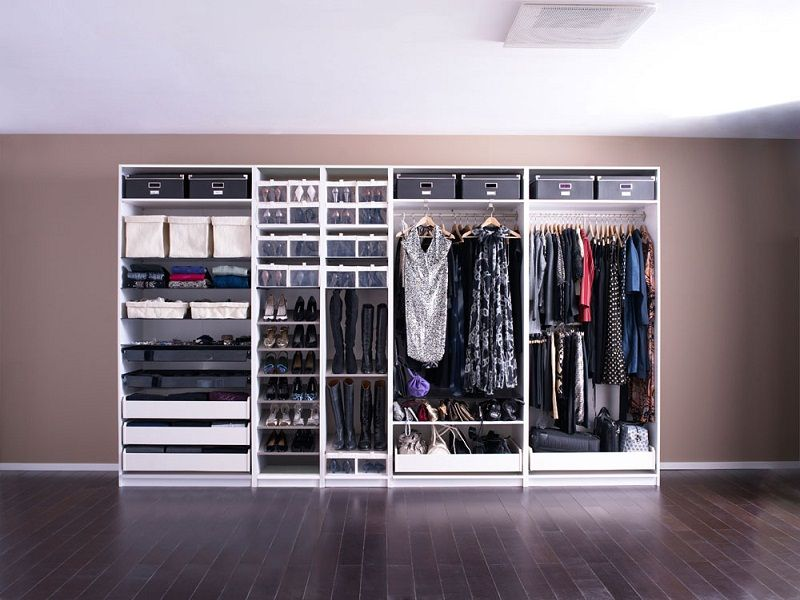 Spacious dressing room designs wardrobe systems ikea Ikea media room ideas
