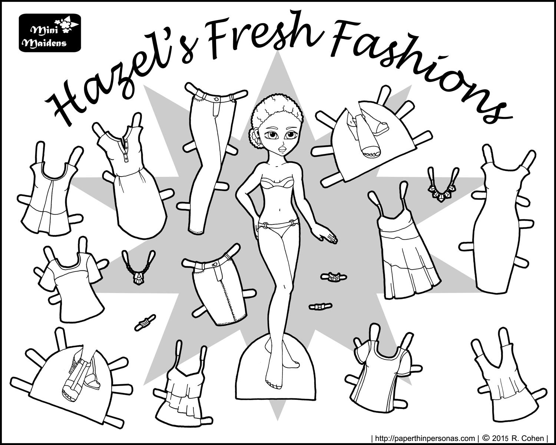 Hazel\'s Fresh Fashions: A Paper Doll | Paperdolls | Pinterest ...