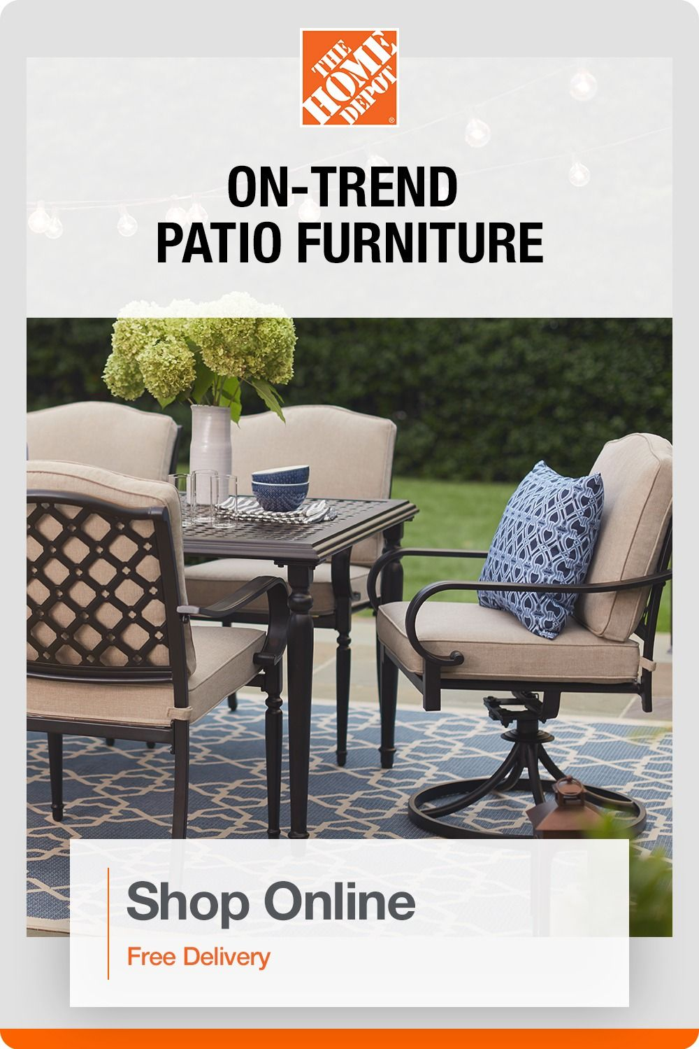 Explore Patio Furniture From The Home Depot Furniture Durable Patio Furniture Covered Patio Design