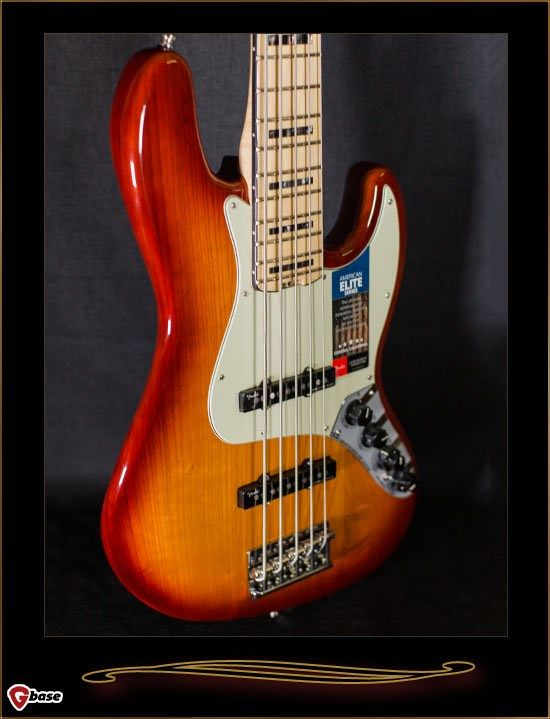 Fender American Elite Jazz Bass V With Maple Fretboard Fender American Bass Guitar Lessons Bass
