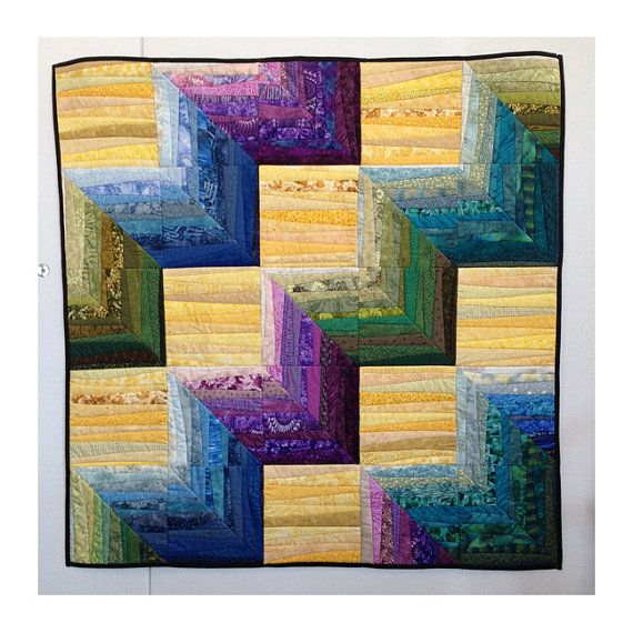 Quilted wall hanging. When I made this quilt I was thinking of ...
