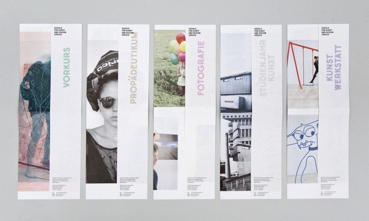 Schule f r kunst und design z rich faltflyer by resort for Schule fur kunst und design