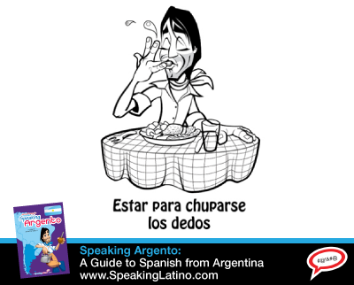 Spanish Saying: ESTAR PARA CHUPARSE LOS DEDOS | Meaning: something tasty (food). #LearnSpanish #Idioms