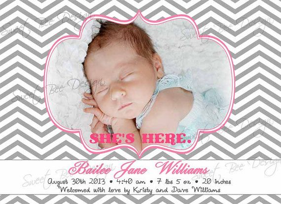 Birth Announcement / Baby Announcement BOY by SweetBeeDesignShoppe, $15.00