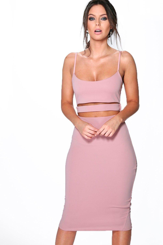 f3f3c7963d724 Tanya Strappy Cut Out Midi Dress