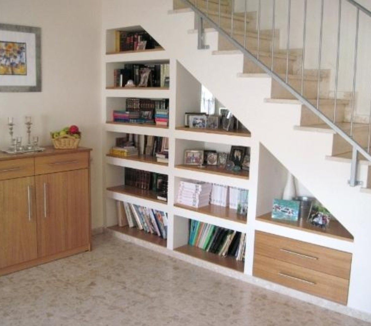 Pin By Lofly On Hallway Under Basement Stairs Stair Bookshelf