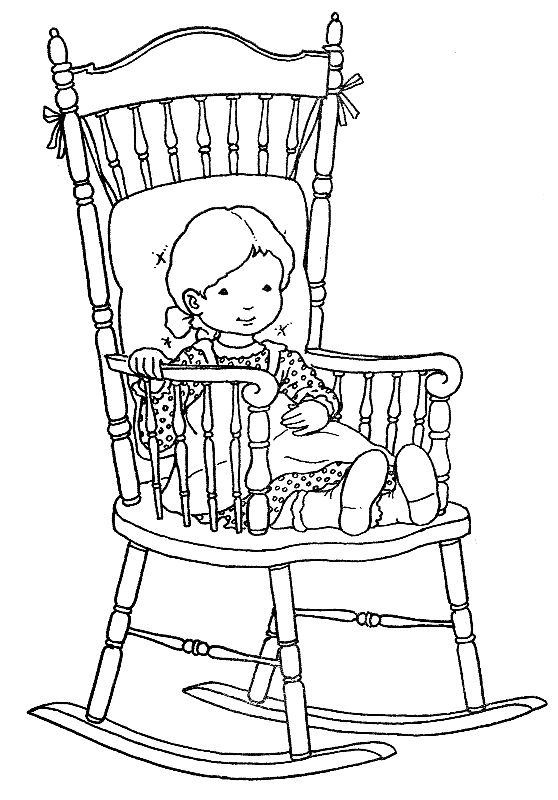 Rocking Chair Coloring Books Coloring Pages Needlework Patterns