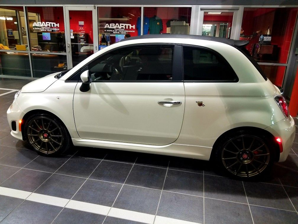 My 2018 Fiat 500c Abarth Tri Coat Pearl White With Images