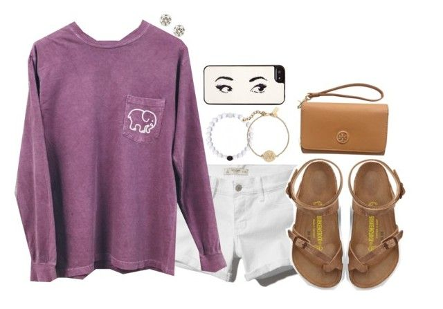 """Untitled #331"" by peypeythehappygirl ❤ liked on Polyvore featuring Abercrombie & Fitch, J.Crew, Kate Spade, Birkenstock and Tory Burch"