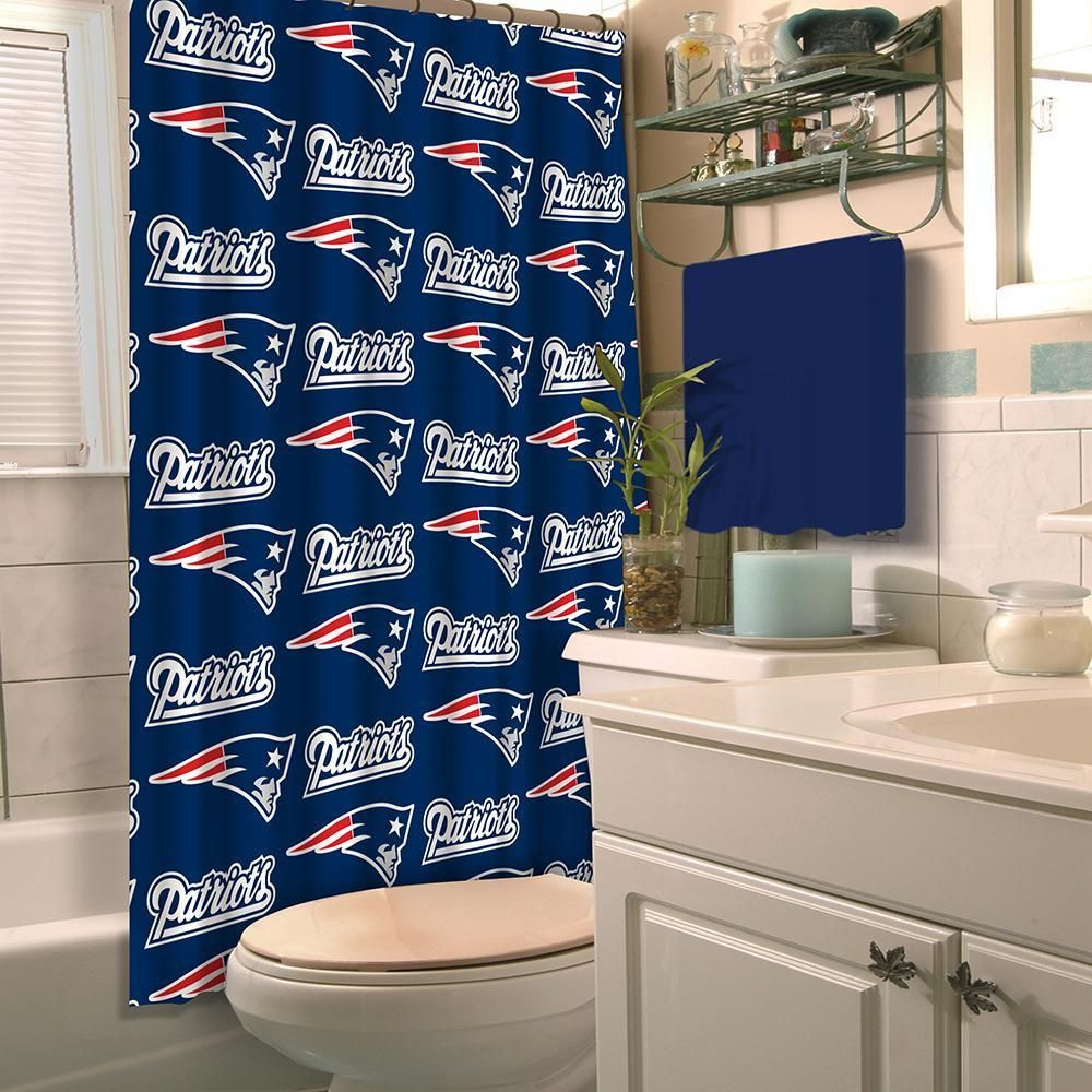 New England Patriots Nfl Shower Curtain Green Shower Curtains