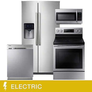 Samsung 4 Piece Electric 24 7cuft Side By Side Food Showcase