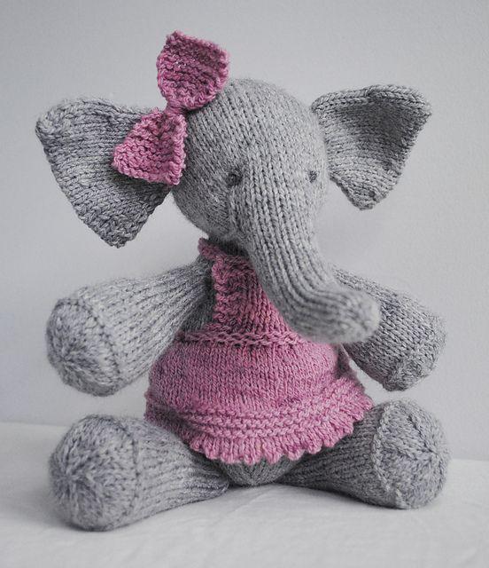 Elephant Knitting Pattern Elijah By Ysolda Teague Knitting And